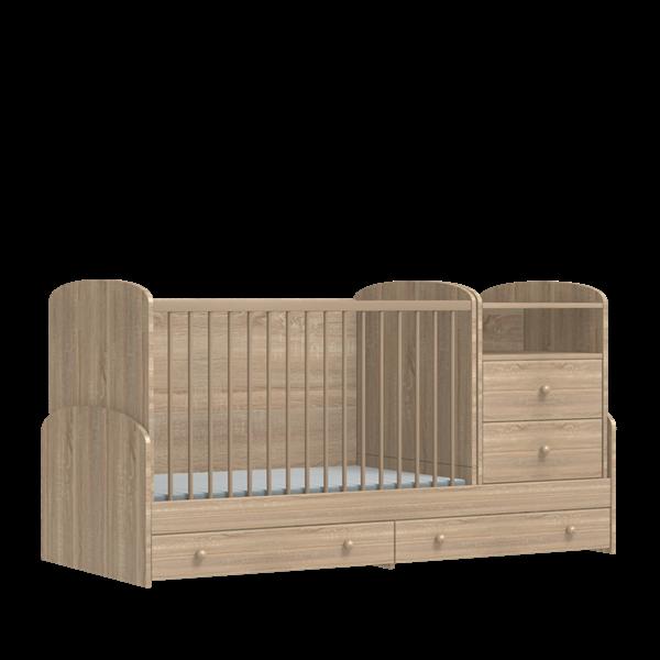 Slika Večnamenska kombi postelja Mia Sonoma